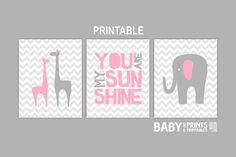 Digital Baby Girl nursery art Set of 3 8x10 by babyartprints, $9.00