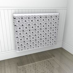 Digital printed radiator cover with dazzling daisies - almost an optical illusion