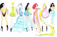 Haute couture Disney princesses