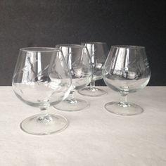 brandy snifters vintage brandy glasses Princess por JewelzAndBeyond