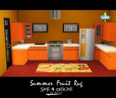 Sims 4 Designs: Summer Fruit Rug