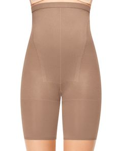 Tame your tummy and create an hourglass silhouette with Super Higher Power. Amped-up, high-waisted tummy-taming panel. Super sleek, cling-free finish. Mega compression zones target tummy, thighs and rear. Unique new design gives rear a lift. Cotton double gusset for ease when nature calls. Panty lines be gone! Wear as underwear. Legband-free design prevents bulges on thighs. Slimming Level: Super