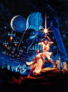 vintagegal:  Star Wars (1977) Movie Poster by The Brothers Hildebrandt  It's exactly like that.