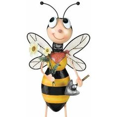 Bee Man Garden Statue by Regal Gifts. $44.95. Garden décor charmPainted metal9.5 x 35 inches. A really successful gardener gauges that success by the wonders of Nature that they?ve grown or attracted, including insects. So your favorite gardener will know their efforts have been a big hit, when the latest addition to their garden décor is the gift of a Bee Man helper.  He comes equipped with his own mini trowel and a handful of flowers to charm whoever comes along.  ...