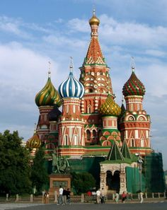 Saint Basil's Cathedral (1555-61) is a showcase of medieval Russian architecture.