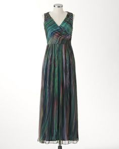 Like: Fabric reminds me of the red/black shirt I have that looks fabulous Watercolor rainbow maxi dress | Coldwater Creek