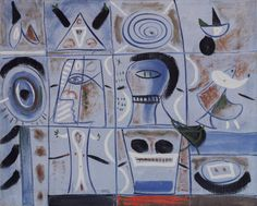 Adolph Gottlieb, Nostalgia for Atlantis, 1944, Oil and tempera on canvas, 20 x 25 inches.    Unlocking the Grid - Exhibitions - Bookstein Projects