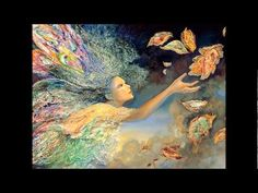 Art of the imagination, The Fantasy World of Josephine Wall. Vibrant images of goddesses, fairies, and mythological characters, celestial Angles. Josephine Wall, Fantasy World, Fantasy Art, Fantasy Fairies, Final Fantasy, Surrealism Painting, Pop Surrealism, Painting Art, Mother Nature