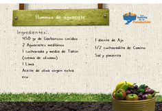 Receta Ecológica. Hummus de aguacate