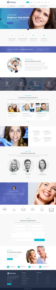 Dentalia has everything you need to build an outstanding website for your dental practice. #wordpress #webdesign #dentist