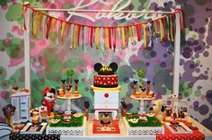Check out this Mickey Mouse birthday party! See more party ideas at CatchMyParty.com!