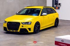 The Audi USA RS4 should never be subtle! Love it Vossen Wheels!