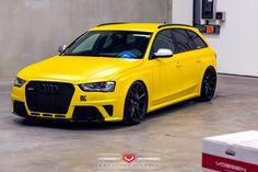 The Audi USA RS4 should never be subtle! Love it Vossen Wheels!