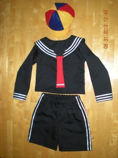 Kiko inspired costume or sailor suit (chavo del 8) (shirt, shorts and hat)(Size 6 months to 5T) on Etsy, $45.99