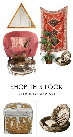 """""""Tropical interior"""" by perpetto ❤ liked on Polyvore featuring interior, interiors, interior design, home, home decor, interior decorating and Dot & Bo"""