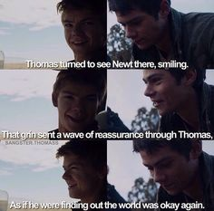 Newt and Thomas | The Scorch Trials | The Maze Runner book page 189