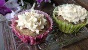 Blåbärsmuffins med mascarponefrosting Lchf, Keto, Stevia, Cabbage, Muffin, Low Carb, Vegetables, Food, Mascarpone