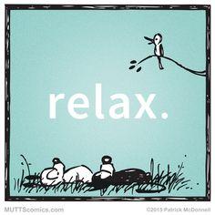 Just chill. #relaxation #MUTTScomics