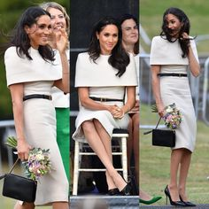 The Duchess of Sussex looks gorgeous in Givenchy today. Plus, her dress was designed by Clare Waight-Keller, just like her wedding gown - it looks like Meghan definitely has a favourite... via ✨ @padgram ✨(http://dl.padgram.com)