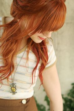 Natural Ginger Hair Color – Trend Decor for You! Color Rubio, Red Hair Don't Care, Copper Hair, Redhead Girl, Beautiful Redhead, Gorgeous Hair, Hair Dos, Pretty Hairstyles, Summer Hairstyles