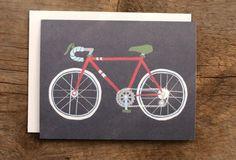 Navy Bike Card