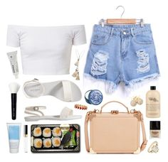 Blueberry and Vanilla by sophiehackett on Polyvore featuring polyvore fashion style Old Navy Aspinal of London Loushelou BEA Vanessa Mooney Alison Lou Bobbi Brown Cosmetics Chanel Korres The Body Shop Butter London philosophy Jura