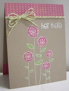 Stamping with Loll:  Hey There Peggy - heat embossing, paper piecing (Sept. 2012)