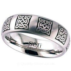 Geti Celtic Knot Titanium Ring
