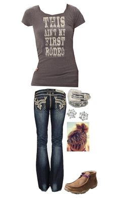 """""""College Classes"""" by gunpowderprincess ❤ liked on Polyvore featuring Retrò, Rock Revival, Cowgirl Justice and Juicy Couture"""