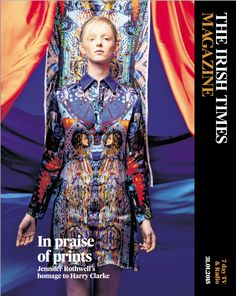 Fashion: in praise of Jennifer Rothwell print Stained glass windows by Harry Clarke were the insporation behind Irish designer Jennifer Rothwell's latest collection