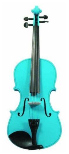 Merano Full Size Light Blue Violin with Case