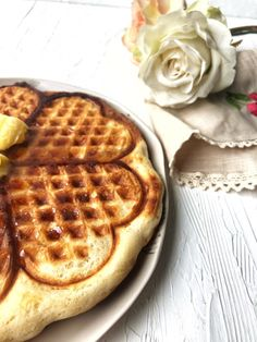Kitchen Therapy | Buttermilk Waffles {eggless} - Kitchen Therapy
