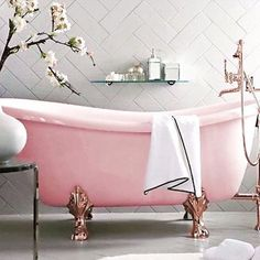 Is it just us, or does this pink tub also make you want to pop open a bottle of rosé?
