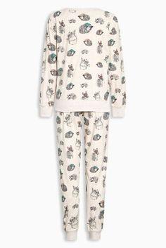 Buy Neutral Woodland Print Cosy Star Pyjamas from Next USA