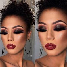 every day makeup Glam Makeup, Glitter Makeup, Makeup Inspo, Makeup Inspiration, Beauty Makeup, Body Makeup, Hair Makeup, Sexy Make-up, African American Makeup