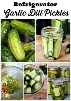 Refrigerator Garlic Dill Pickles: How to make easy Refrigerator Garlic Dill Pickles via http://flouronmyface.com