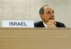 Embajador de Israel en el Consejo de Derechos Humanos de la ONU. (REUTERS)