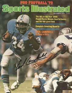 HOUSTON OILERS EARL CAMPBELL SIGNED AUTOGRAPHED SPORTS ILLUSTRATED 9/3/79, NFL