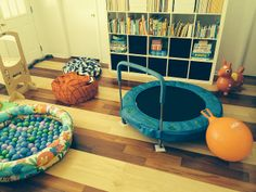 Some of the items in our sensory room for my sensory seeking kids.