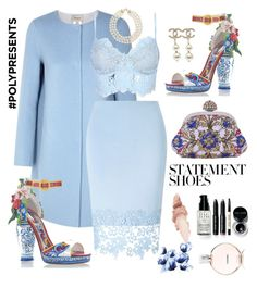 """#PolyPresents: Statement Shoes #94"" by delg27 on Polyvore featuring Dolce&Gabbana, Armani Collezioni, Lipsy, Chanel, Maybelline, Bobbi Brown Cosmetics, contestentry and polyPresents"
