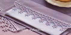 красивые столовые салфетки с вязаной каймой своими руками