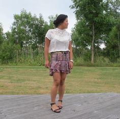 Wearing the Silea skirt