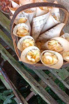 Gorgeous confetti cones at Belmond Le Manoir aux Quat Saisons.