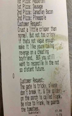Customer request...