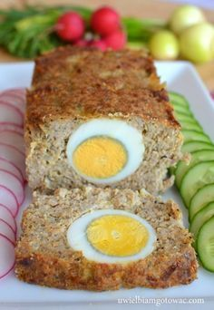Pieczeń rzymska z jajkiem Indian Food Recipes, Beef Recipes, Vegetarian Recipes, Cooking Recipes, Breakfast Menu, Healthy Breakfast Recipes, Appetizer Recipes, Dinner Recipes, Easter Dishes