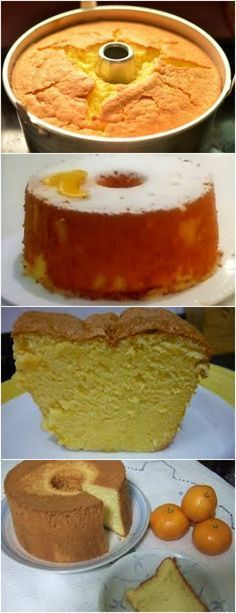 Chiffon de Laranja AMOOO❤️ VEJA AQUI>>>Bater as claras em neve, reservar Misturar o açúcar com a farinha de trigo, juntar o óleo, o suco de laranja, as raspas, o sal e as gemas #receita#bolo#torta#doce#sobremesa#aniversario#pudim#mousse#pave#Cheesecake#chocolate#confeitaria