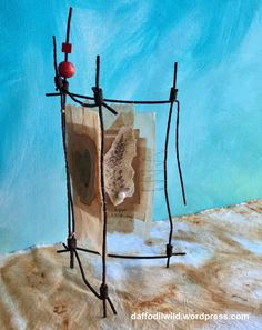 A birthday card for a farmer, made from rusty old fencing, teabags and symbold to represent his wife and children. Happy Birthday Cards, Fencing, Farmer, Scrap, Tea, Children, Happy Birthday Greeting Cards, Young Children, Fences