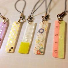 Shrink art with Washi tape Plastic Tags, Shrink Plastic, Resin Ring, Uv Resin, Plastic Jewelry, Resin Jewelry, Shrink Art, Kawaii Jewelry, Shrinky Dinks