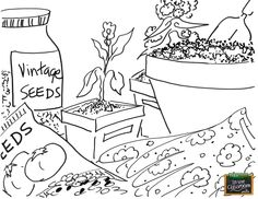 Garden ready! Free coloring page for your elementary classroom! www.farmtimeclassroom.com
