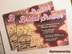 Rustic Autumn Bridal Shower Invitations PRINTED  10 by Starzraven, $19.95